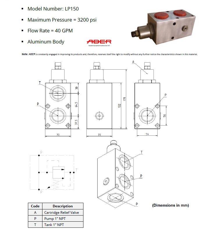 ProDrive PTO Hydraulics Hydraulic Relief valve e1599171400317 - HYDRAULIC RELIEF VALVE