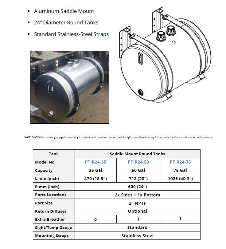 ProDrive PTO Hydraulics Saddle Mount Hyd Oil Tank REV00 e1602721343817 - ALUMINUM SIDE MOUNT HYDRAULIC OIL RESERVOIR